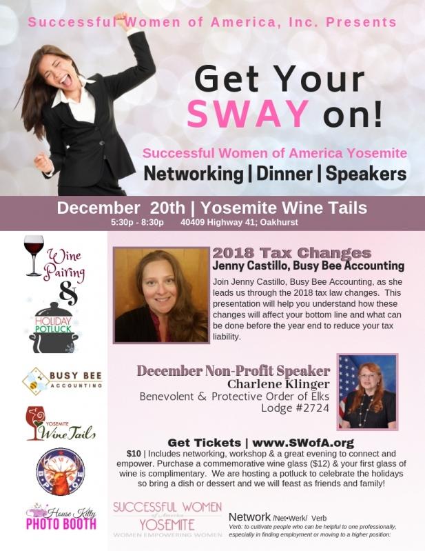 Successful Women of America Yosemite December Mixer